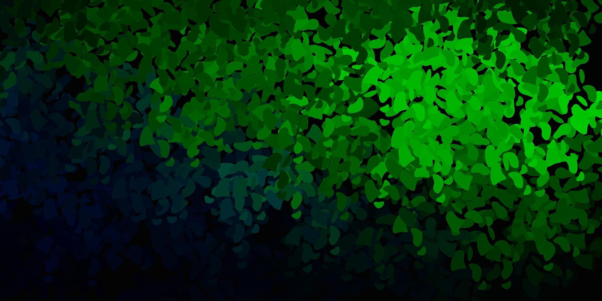 textura vector verde escuro com formas de memphis.