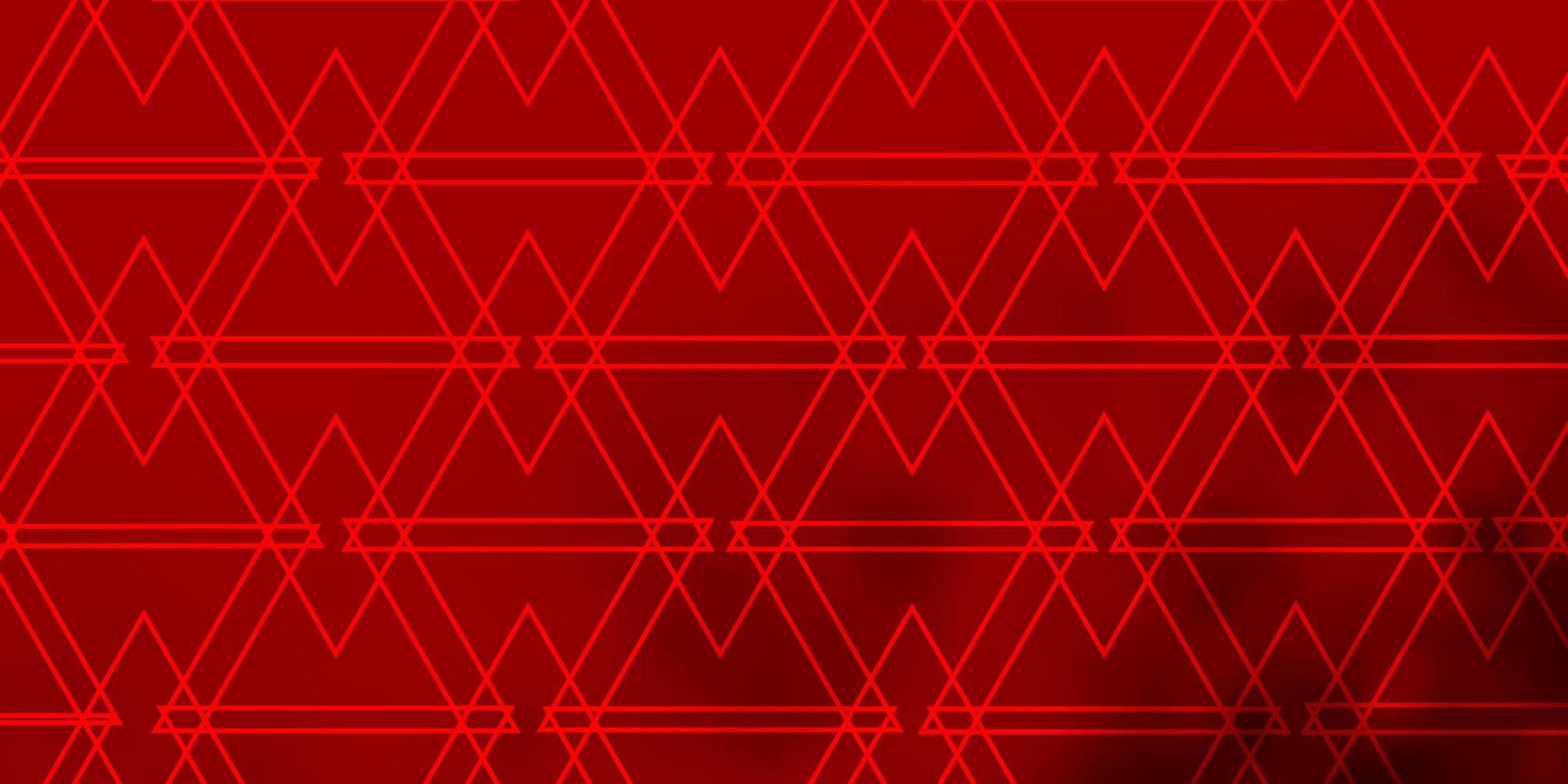 modelo de vetor vermelho claro com linhas, triângulos.