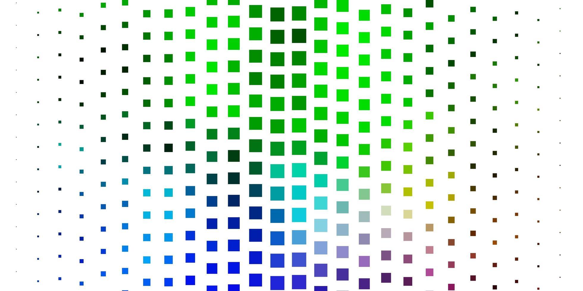 modelo de vetor multicolor de luz em retângulos.