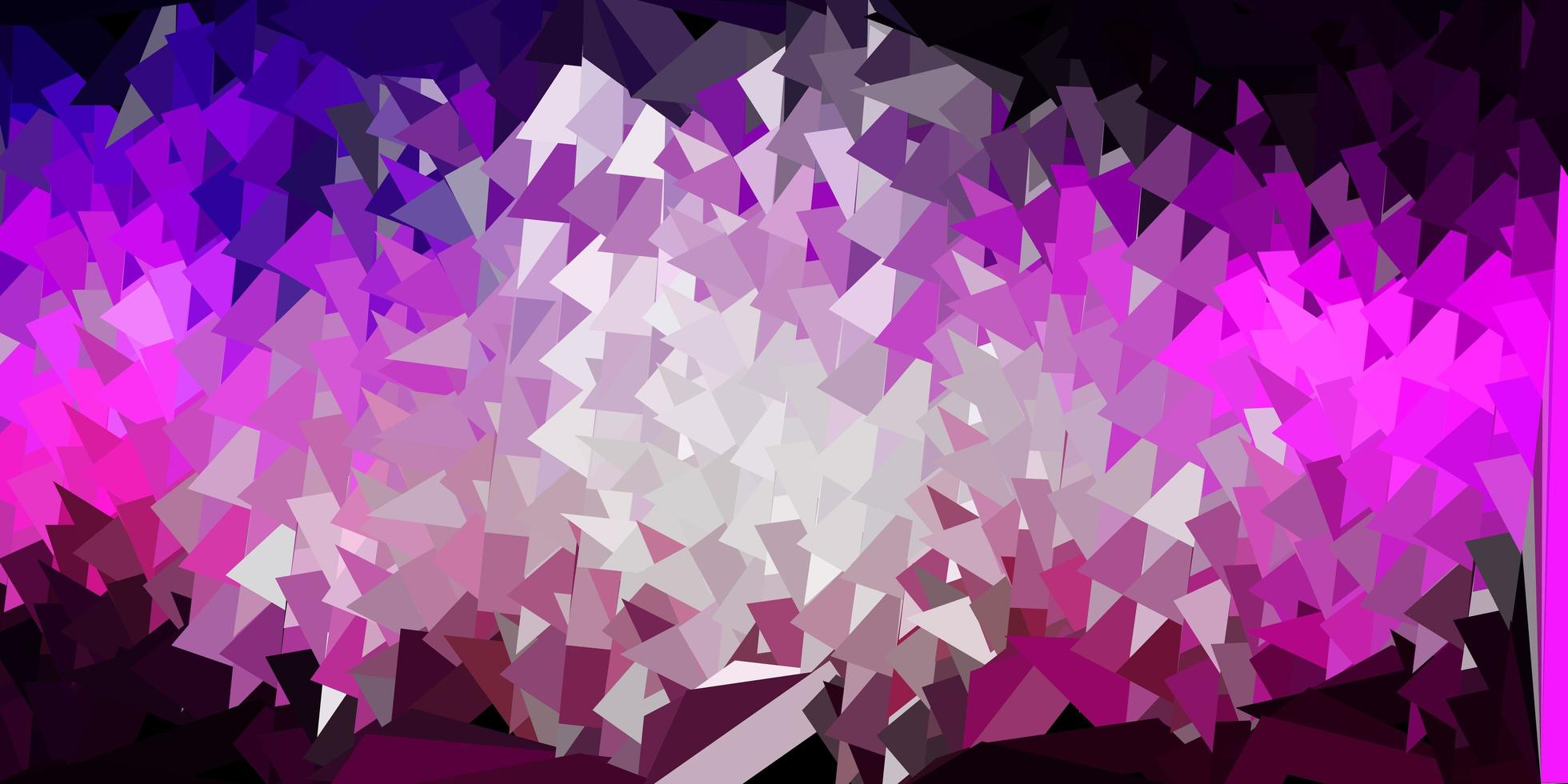 papel de parede de mosaico de triângulo de vetor roxo escuro, rosa