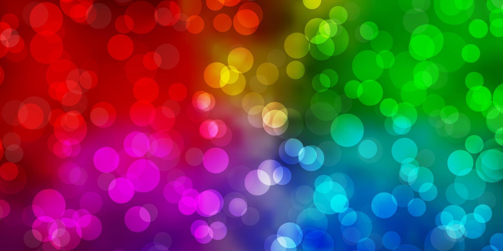 luz de fundo multicolor vector com círculos.