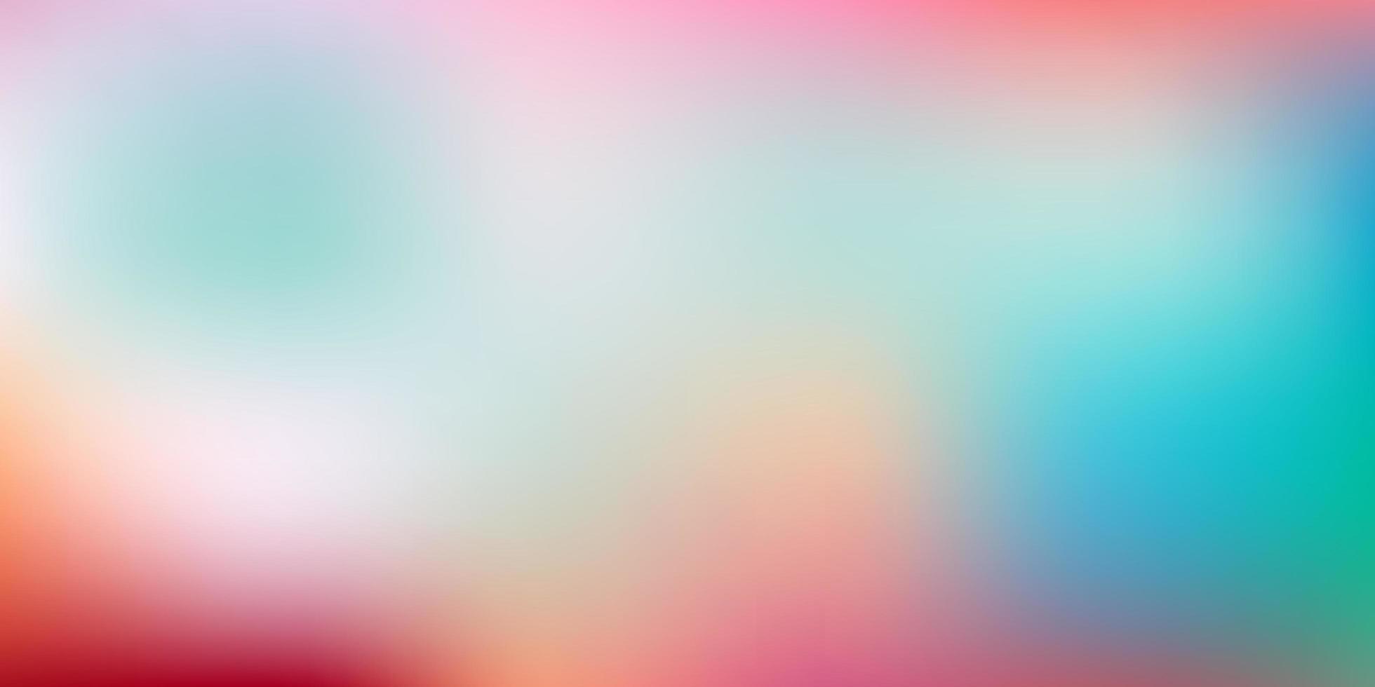 textura de desfoque gradiente de vetor verde e vermelho claro.