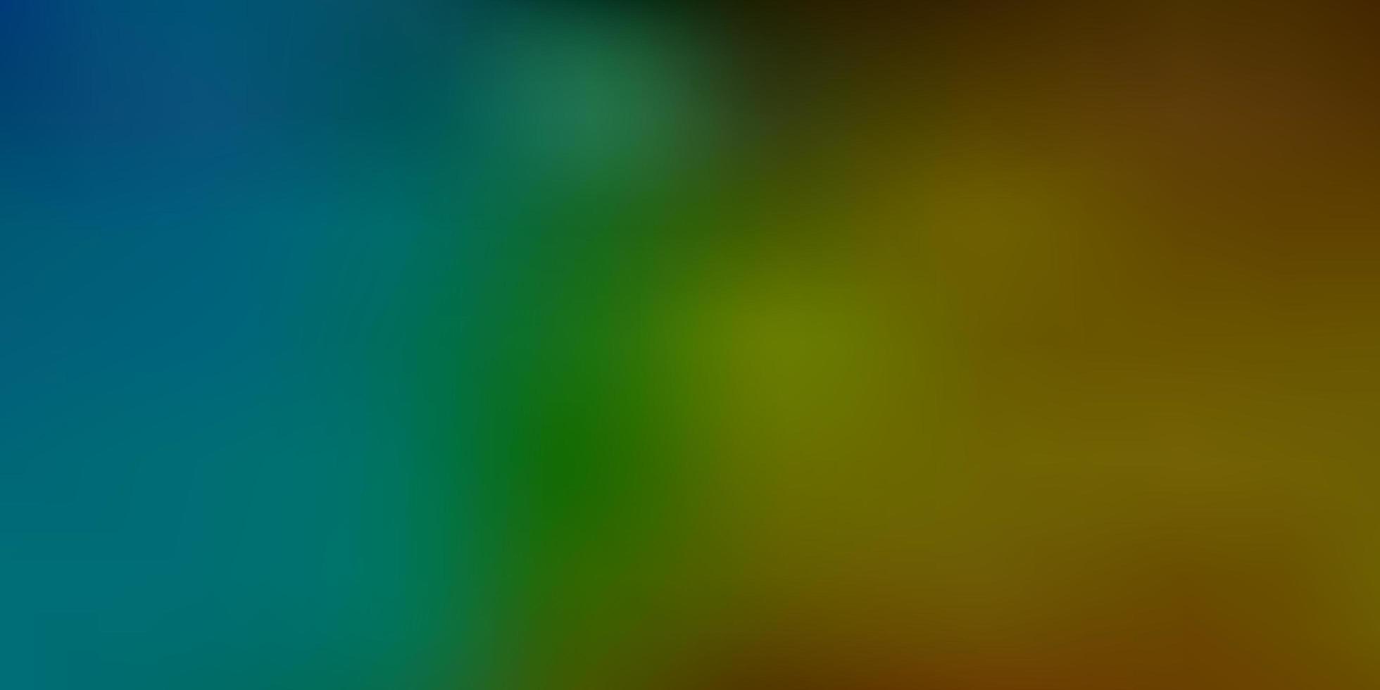 textura de desfoque de vetor azul e amarelo claro.