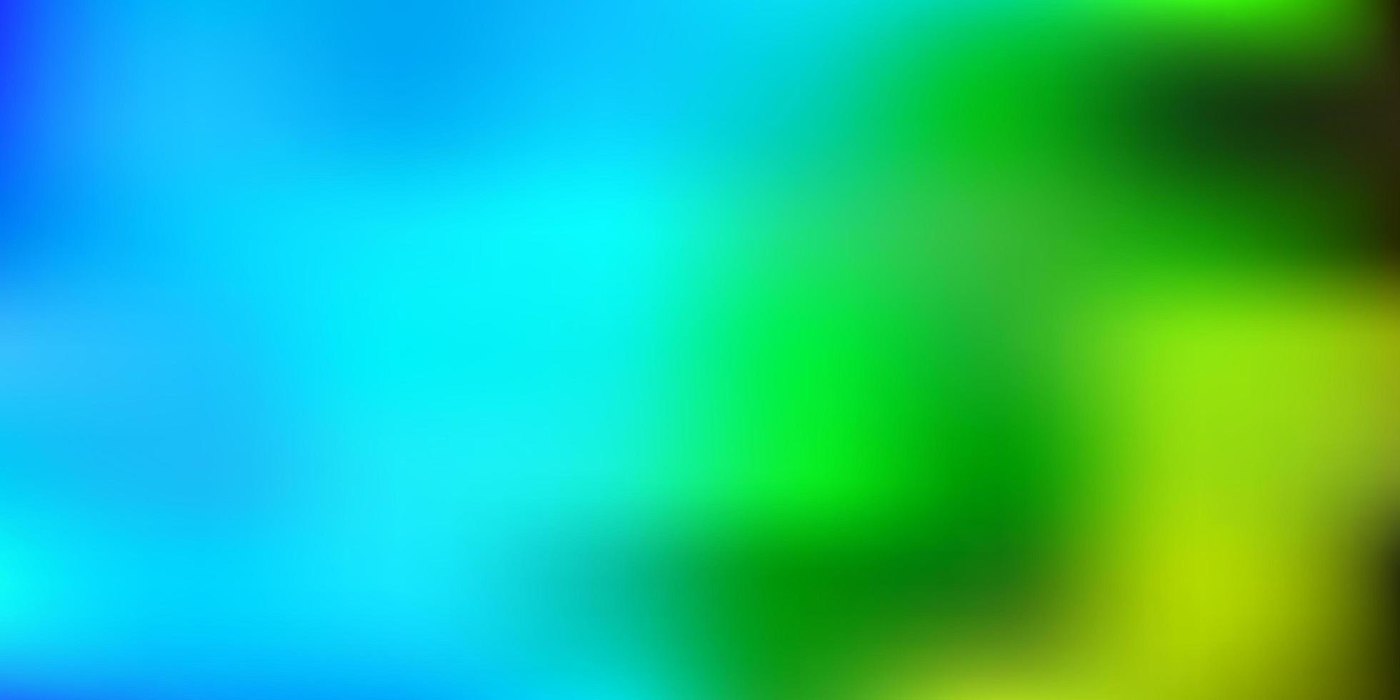 textura de desfoque de vetor azul e verde claro.