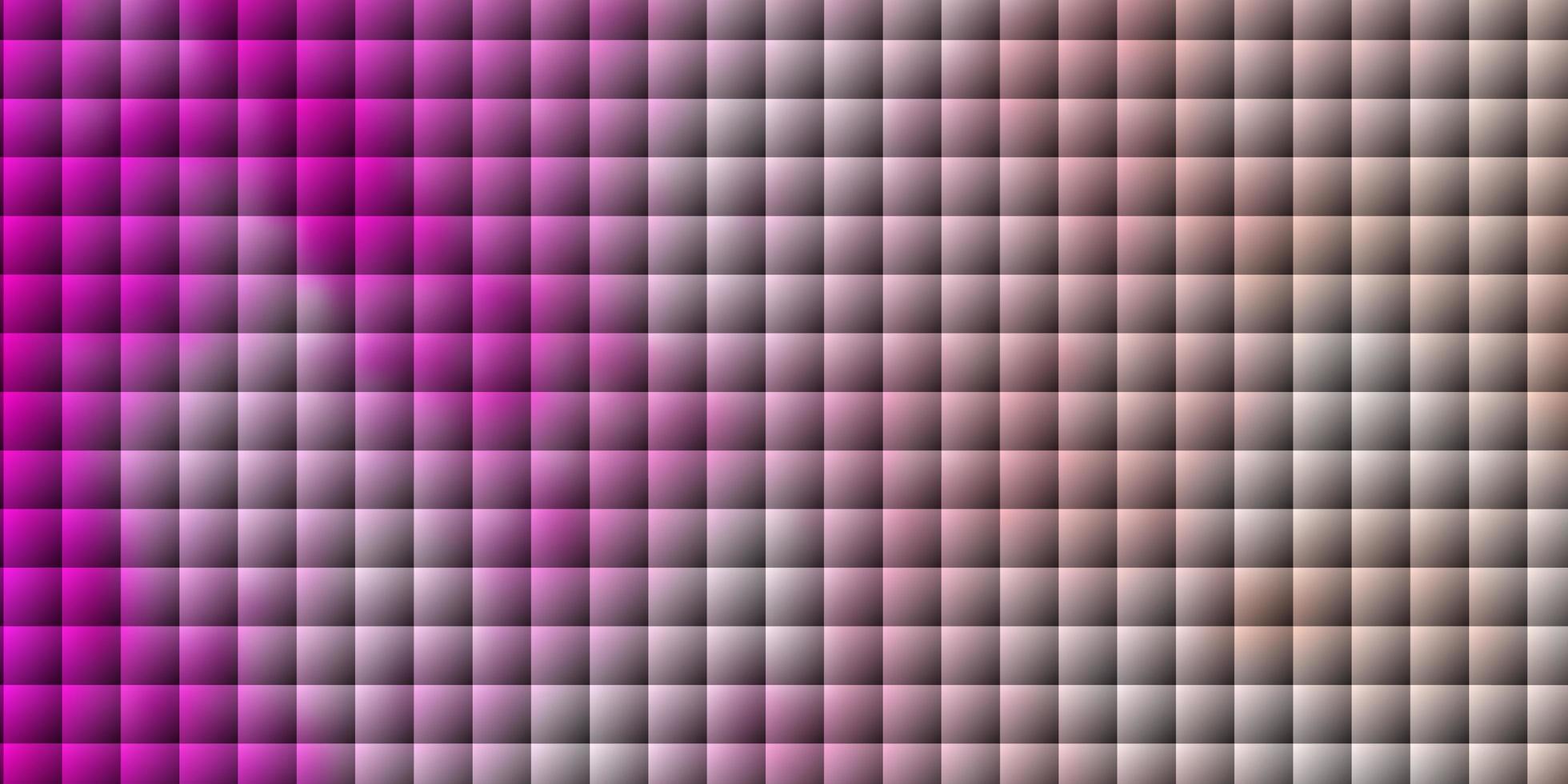 textura vector rosa claro em estilo retangular.