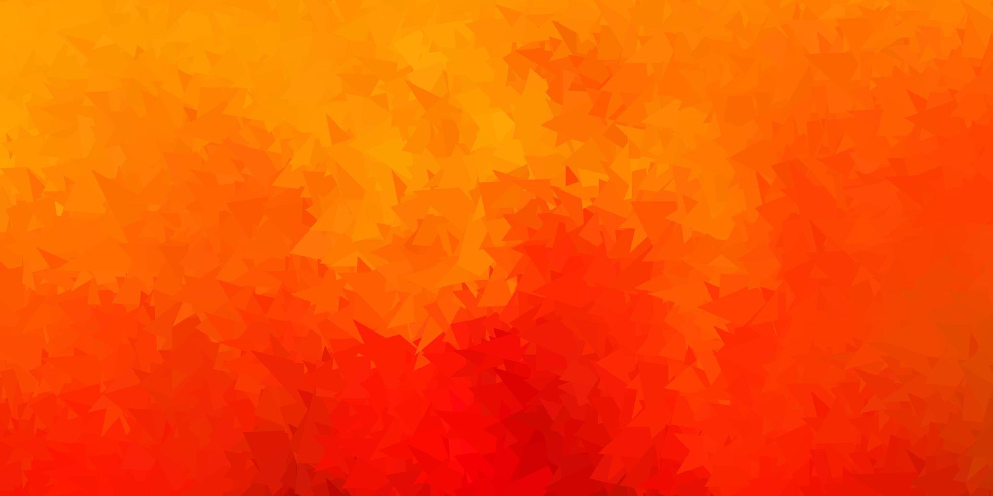 modelo de mosaico de triângulo de vetor laranja escuro.