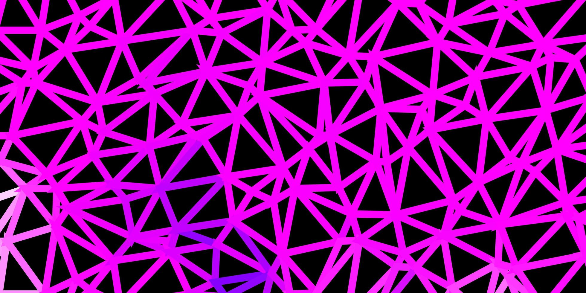 pano de fundo do mosaico do triângulo do vetor roxo claro.