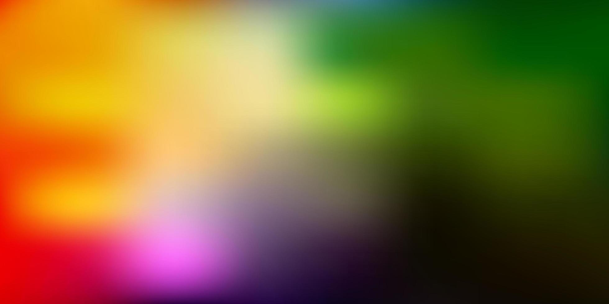 layout de borrão de luz multicolor vetor. vetor
