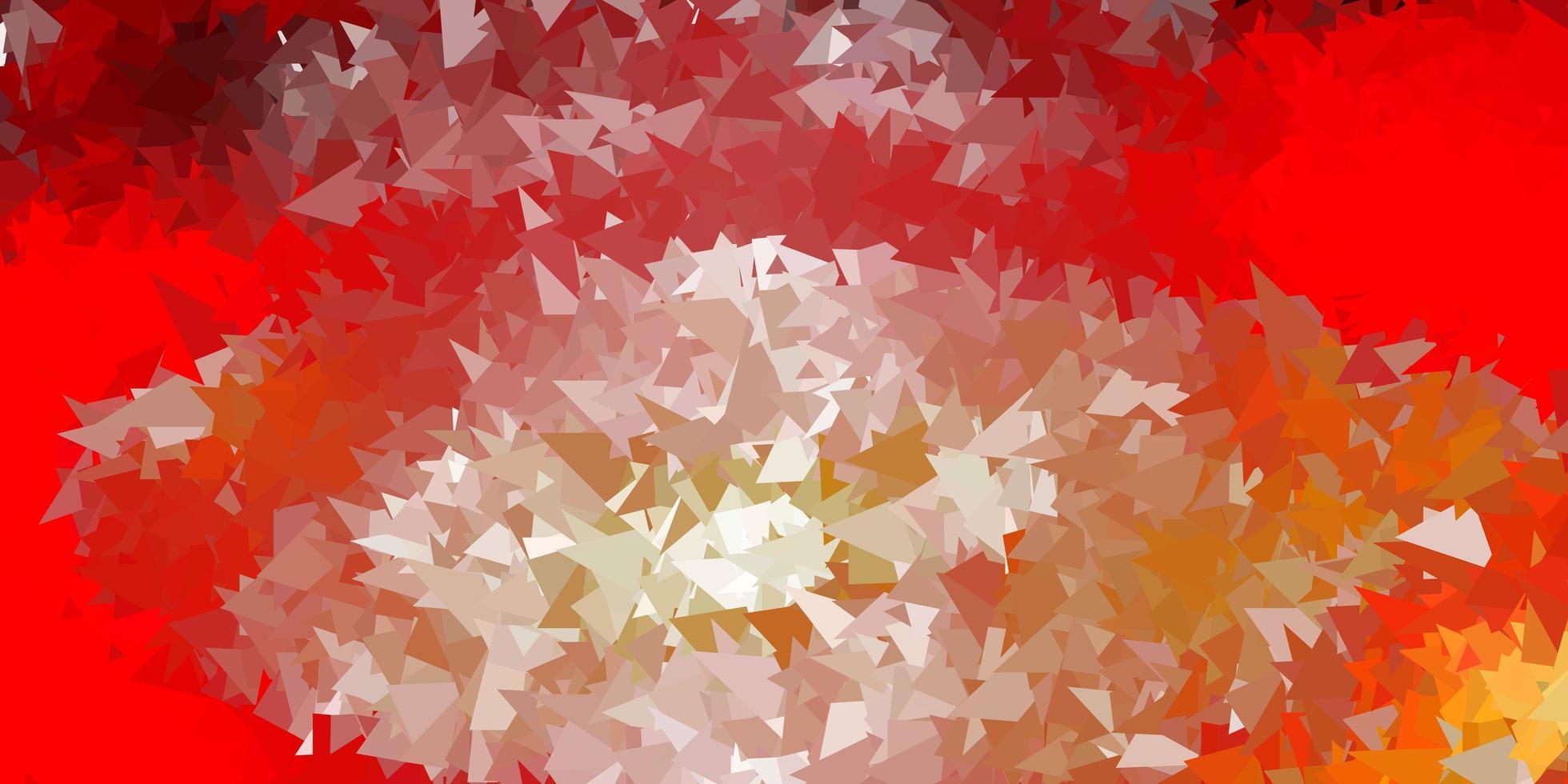cenário de mosaico de triângulo de vetor vermelho e amarelo claro.