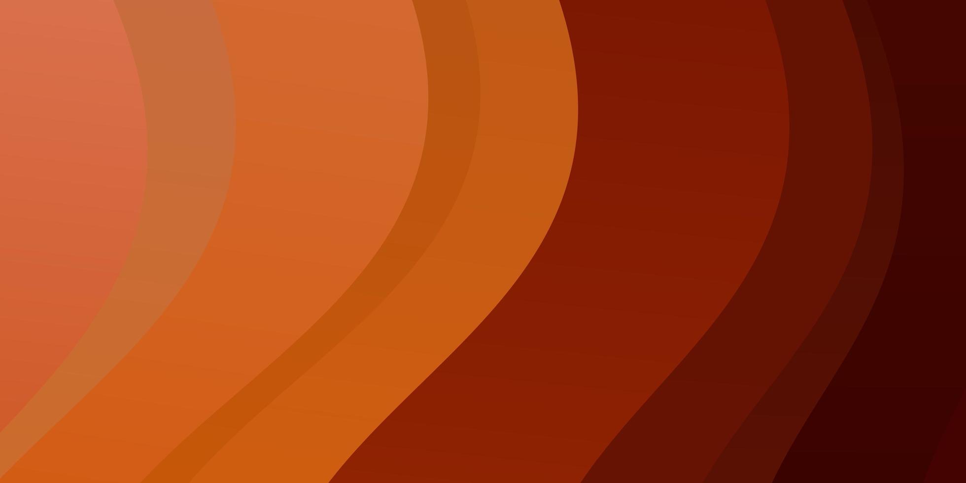 layout de vetor laranja claro com linhas irônicas.