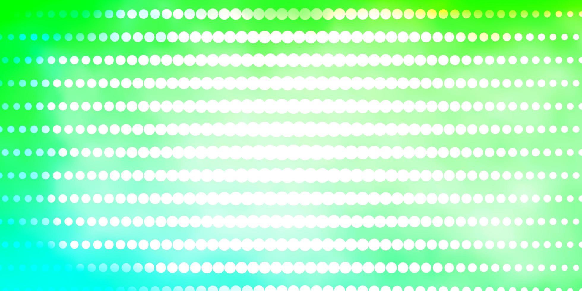 layout de vetor verde claro com círculos.