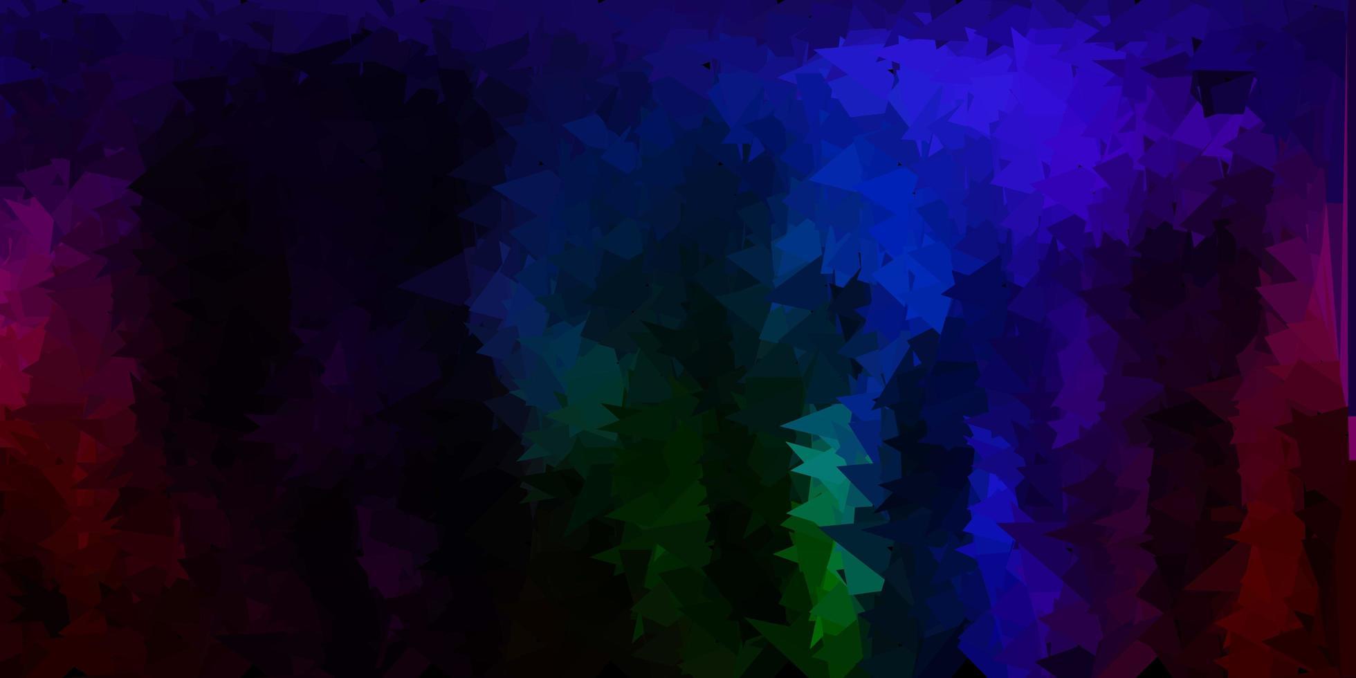 fundo do triângulo abstrato do vetor multicolorido escuro.