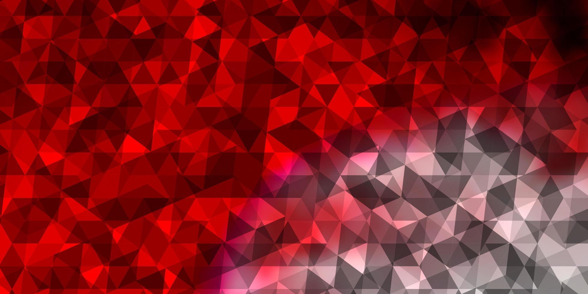 fundo vector vermelho claro com estilo poligonal.