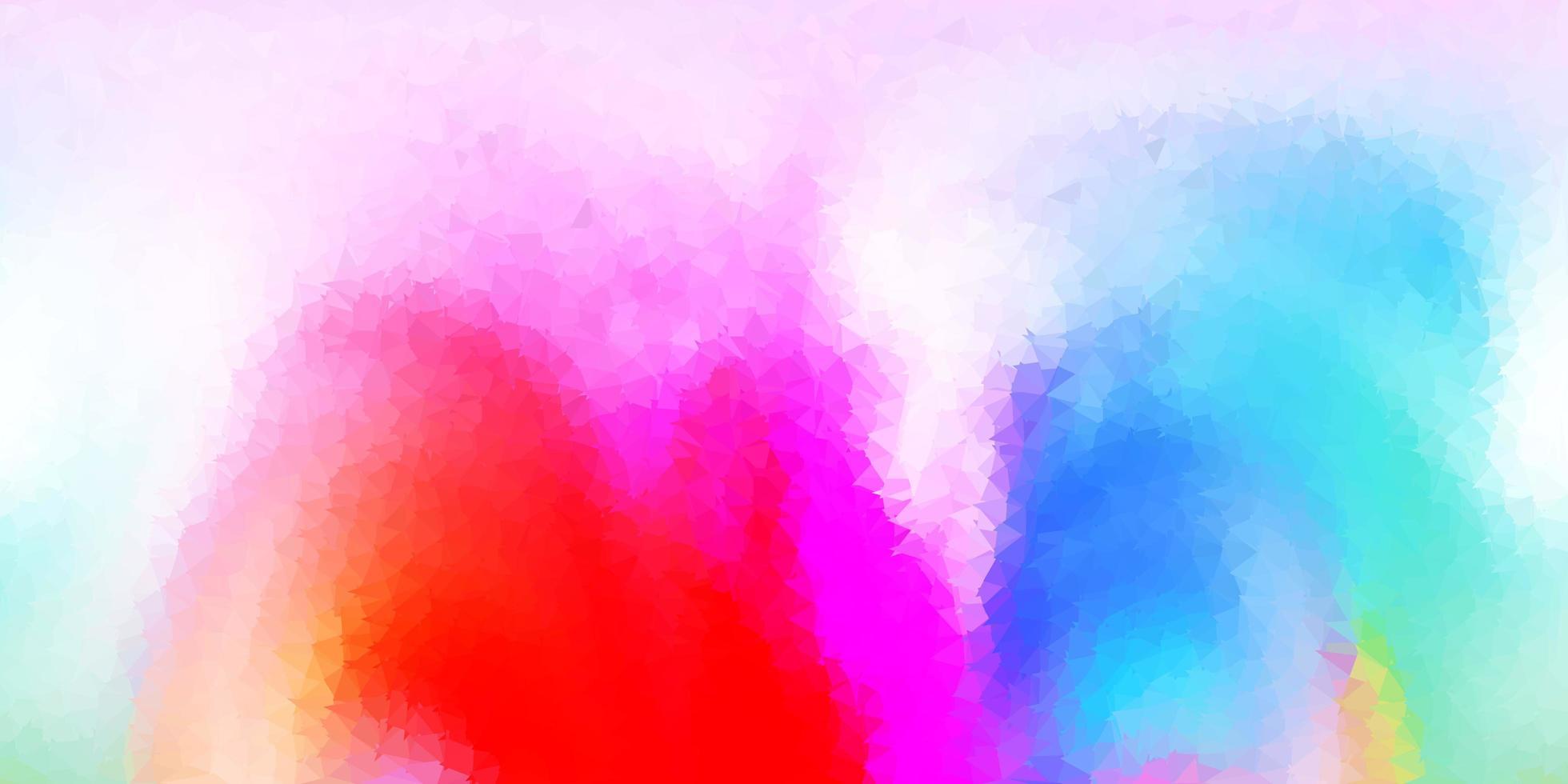 cenário poligonal de luz multicolor vetor. vetor