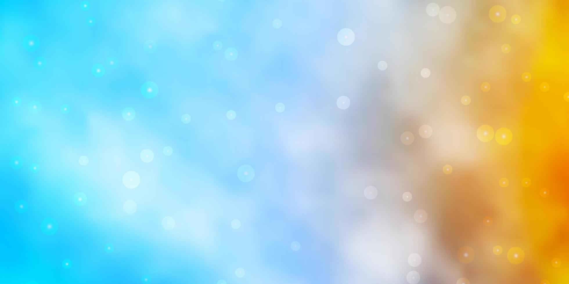 fundo vector azul claro, amarelo com estrelas pequenas e grandes.