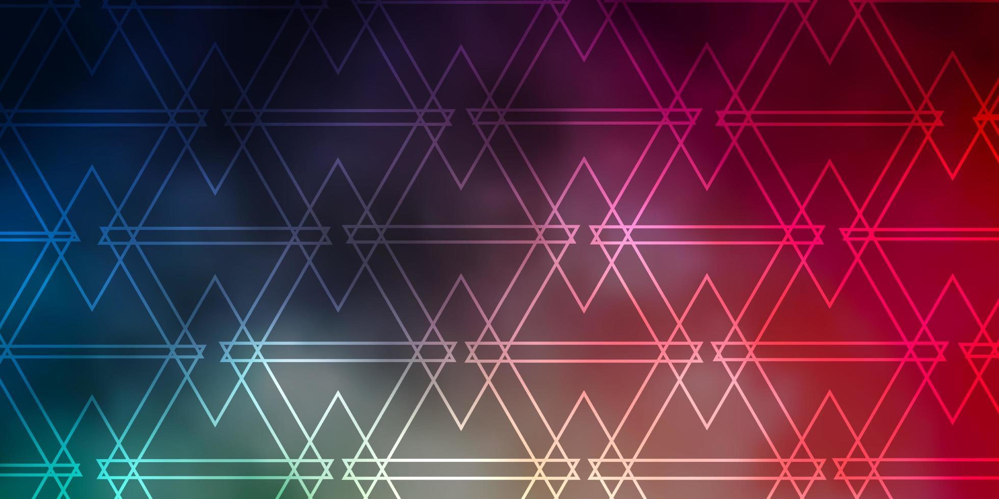 padrão de vetor verde e vermelho claro com estilo poligonal.