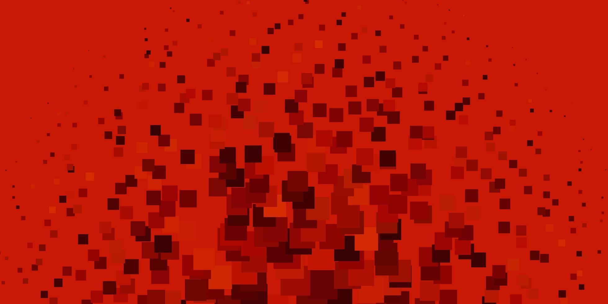 textura vector vermelho claro em estilo retangular.