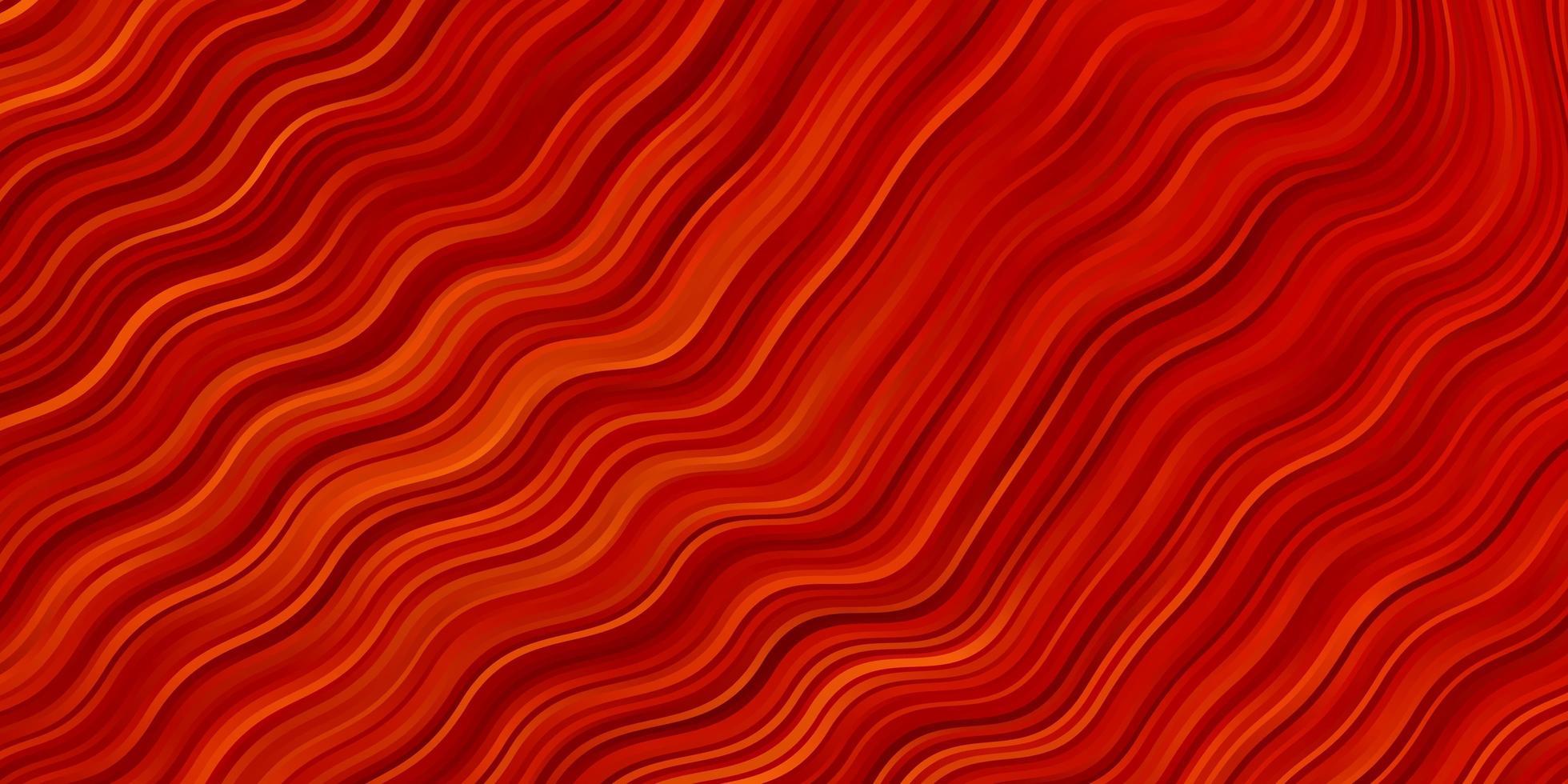 padrão de vetor vermelho claro com linhas curvas.