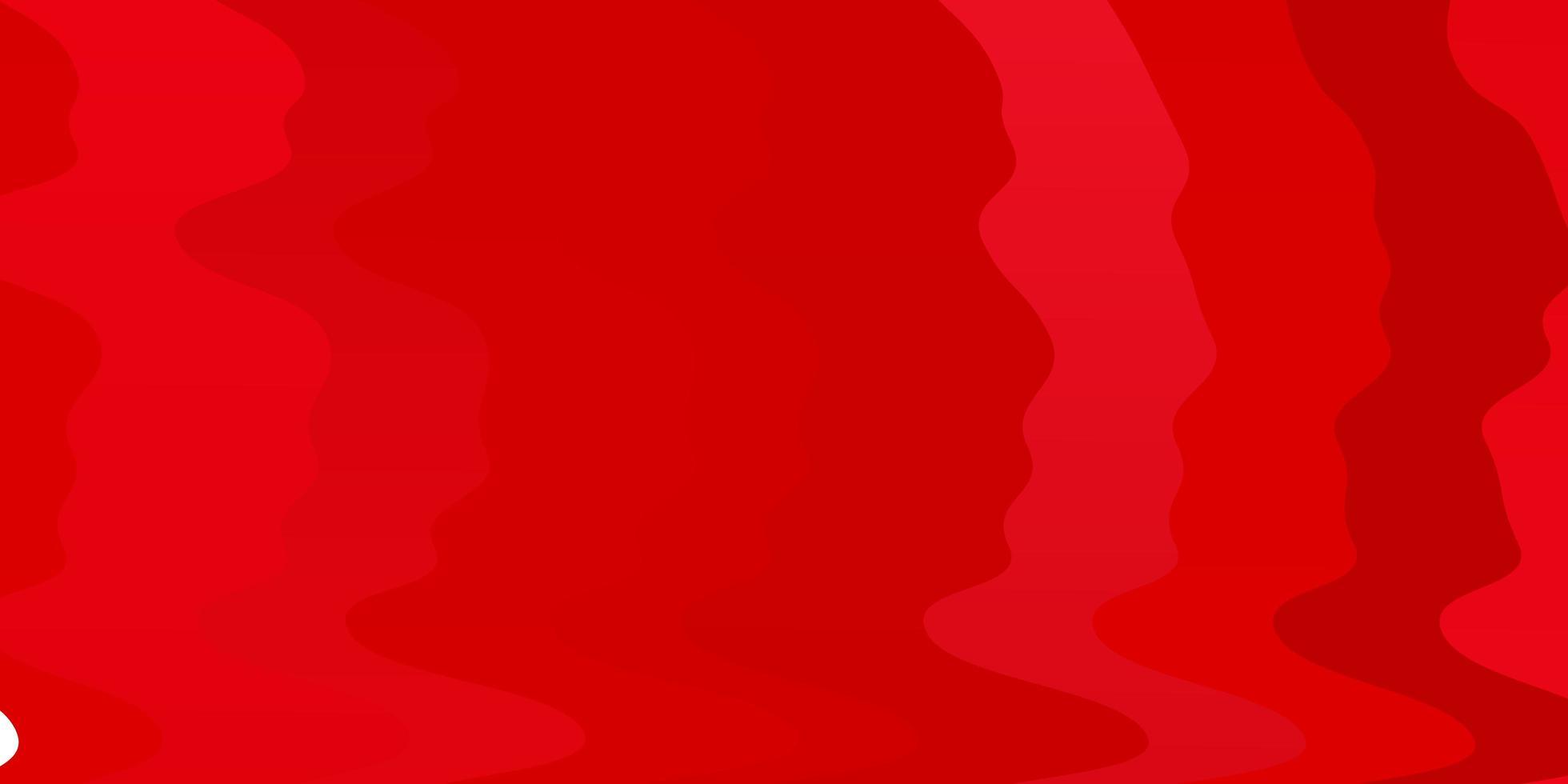 pano de fundo vector vermelho claro com curvas.
