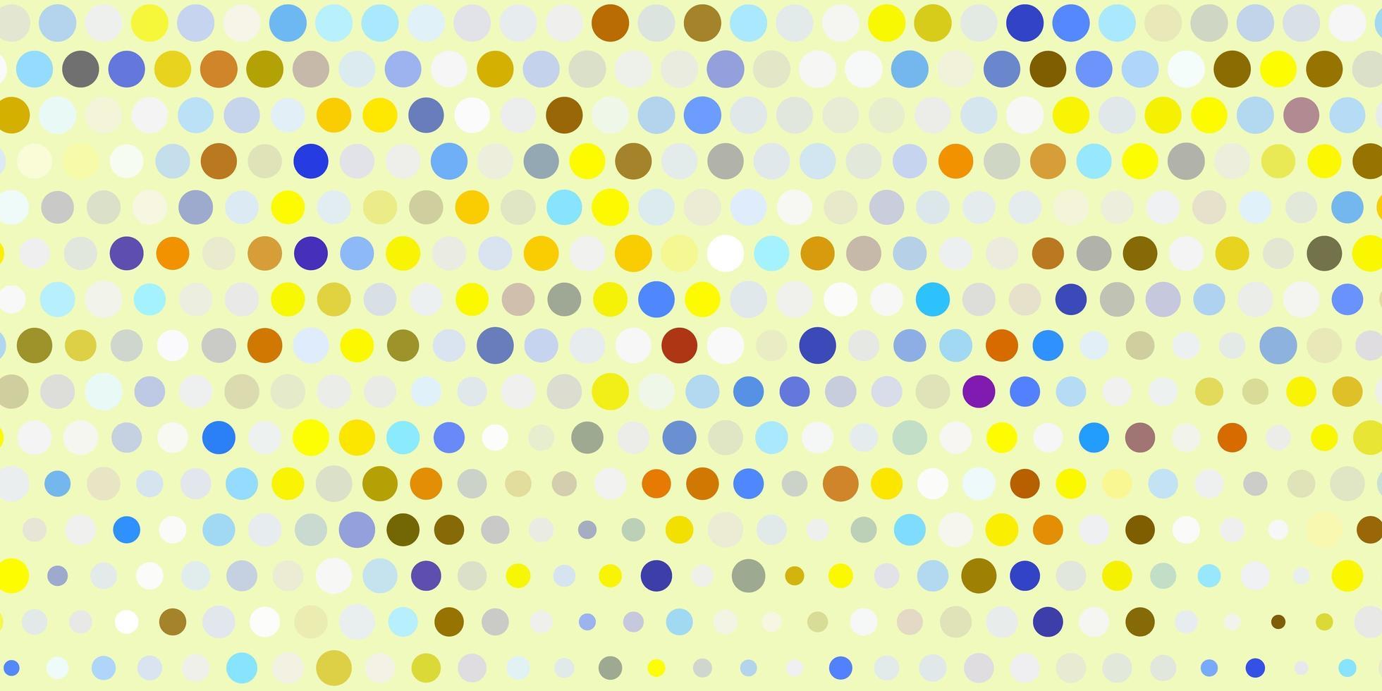 fundo vector azul e amarelo claro com bolhas.