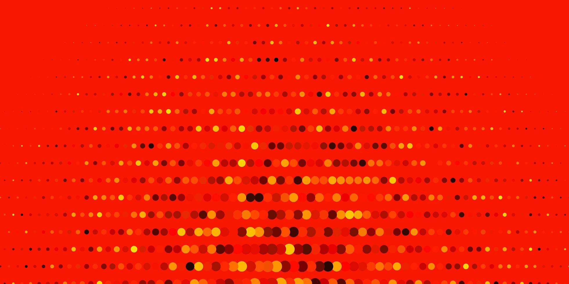 layout de vetor laranja escuro com formas de círculo.