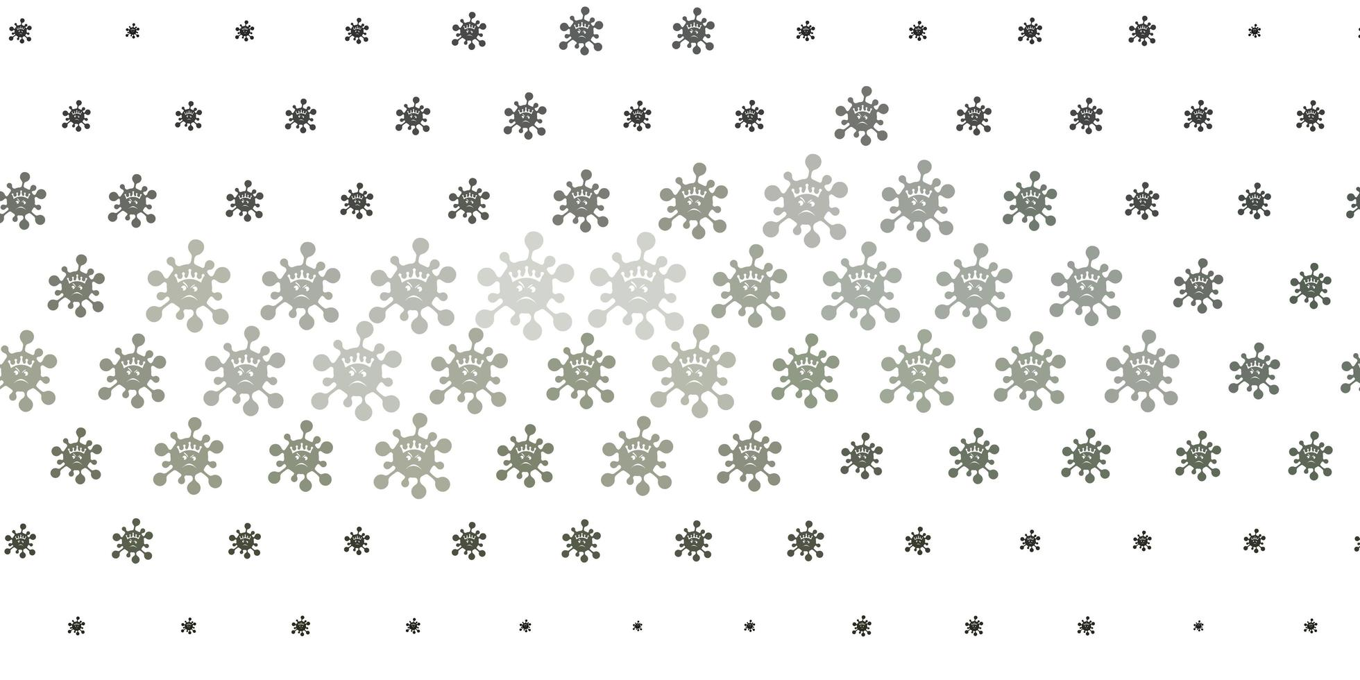 textura de vetor cinza claro com símbolos de doença.