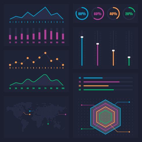 Informações de Diagramas Estatísticos Apresentação de Dados Gráficos vetor