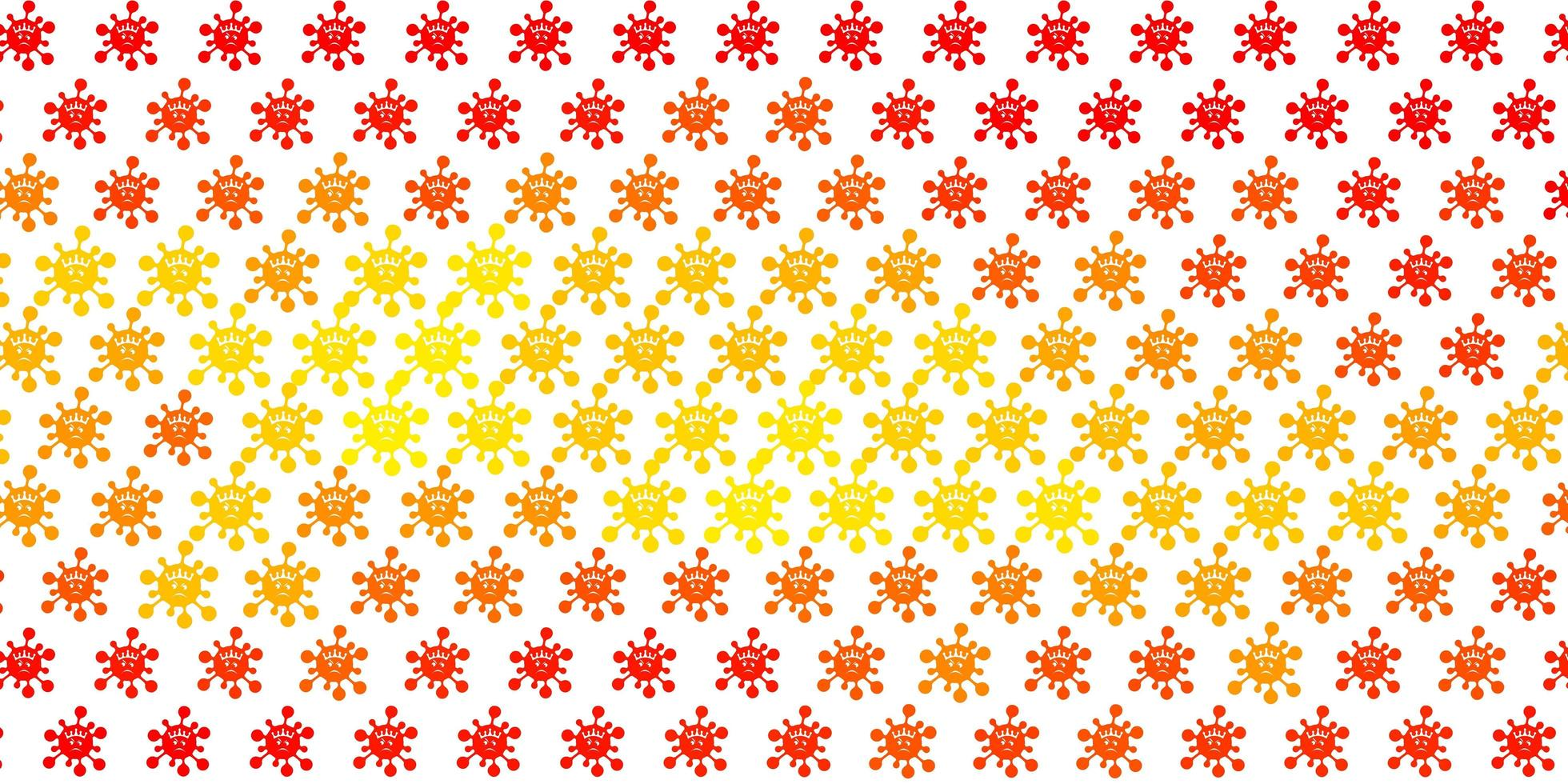 fundo laranja claro com símbolos covid-19 vetor