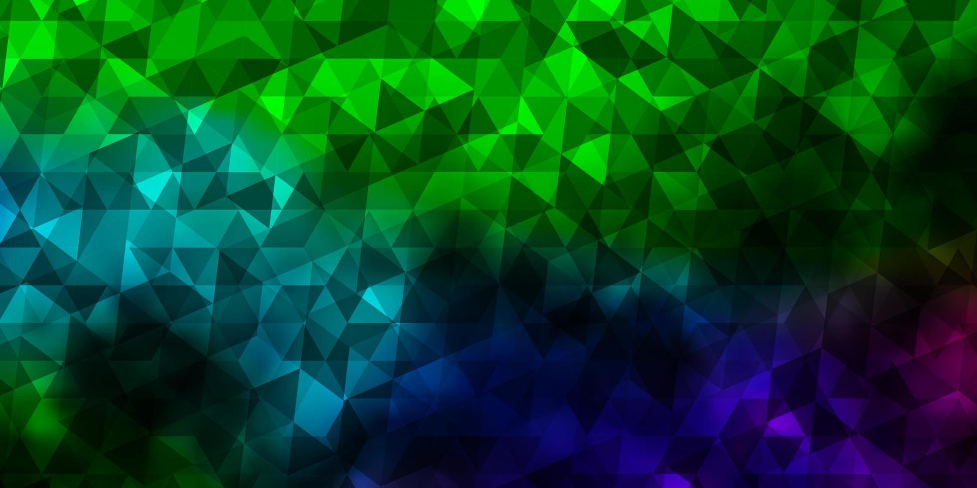 padrão de vetor multicolor escuro com estilo poligonal.