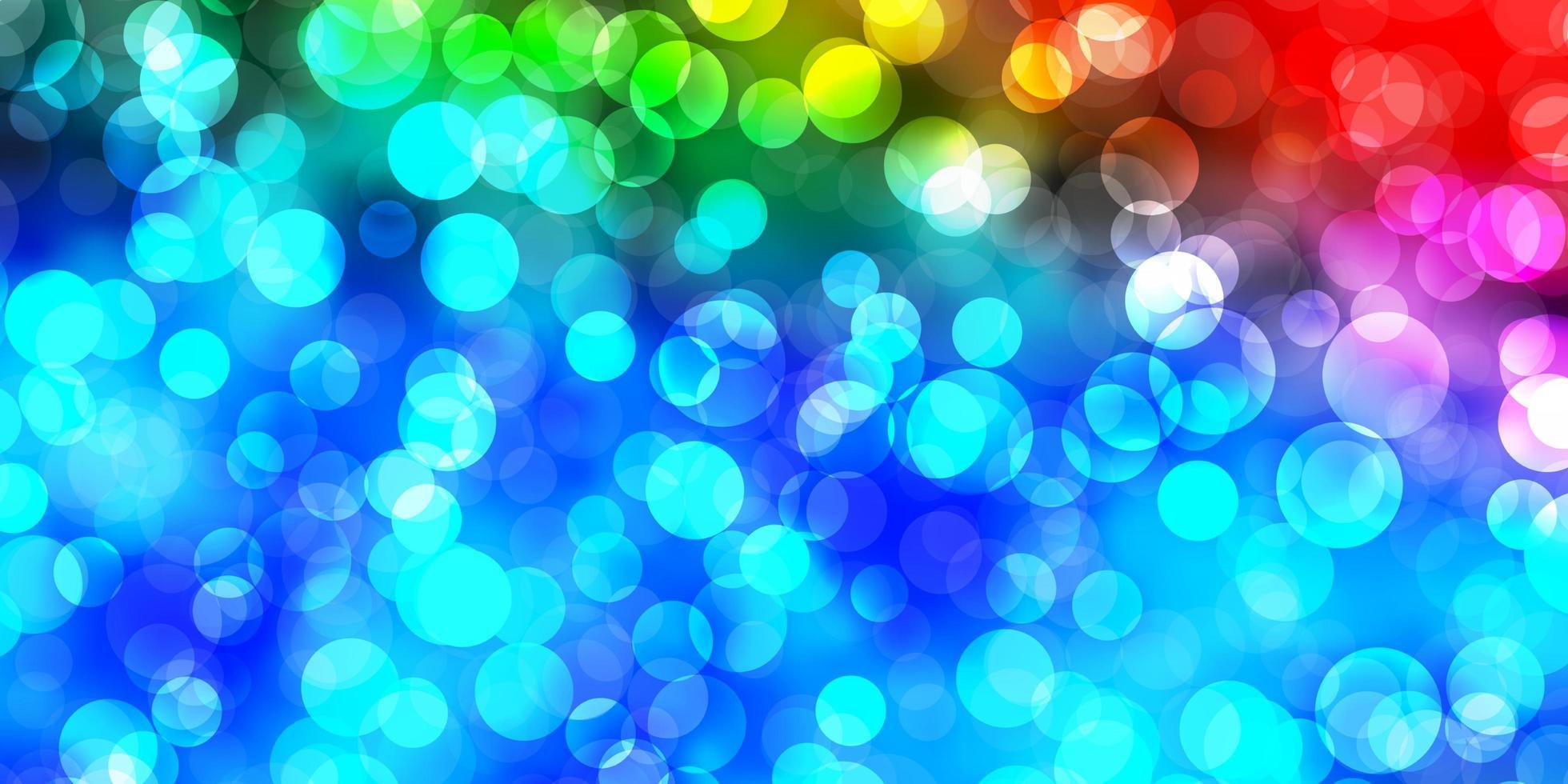 padrão de vetor multicolor escuro com esferas.