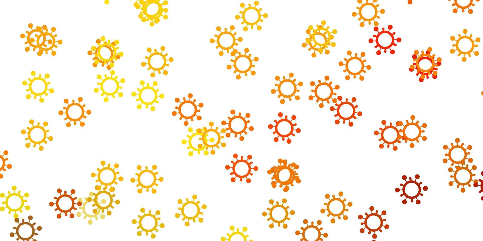 modelo de vetor amarelo claro com sinais de gripe.