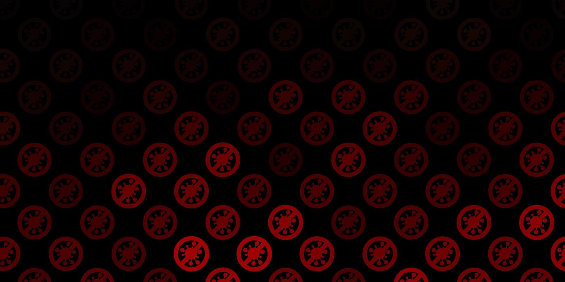 pano de fundo marrom escuro do vetor com símbolos de vírus.