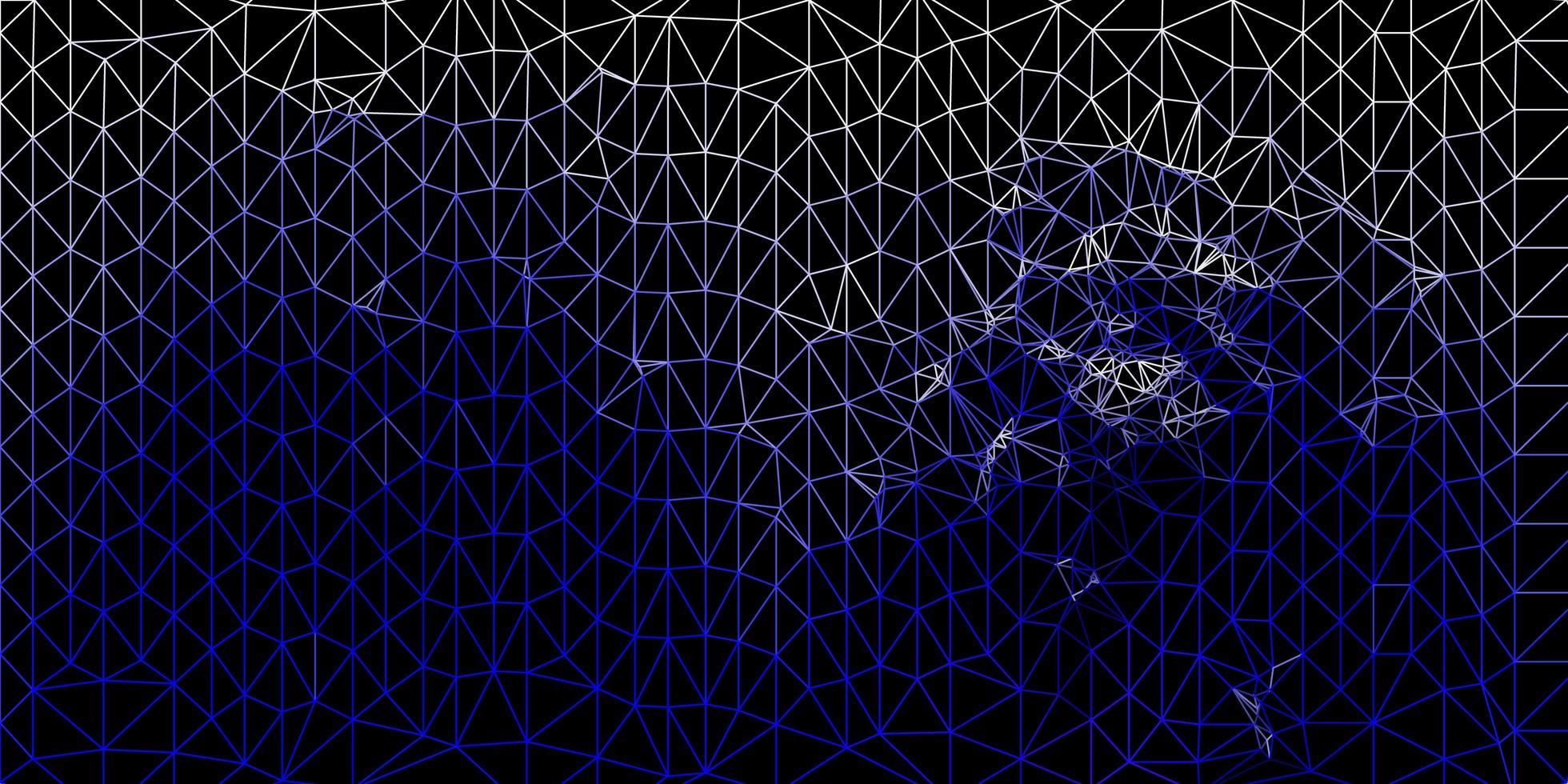 fundo azul escuro do mosaico do triângulo do vetor. vetor