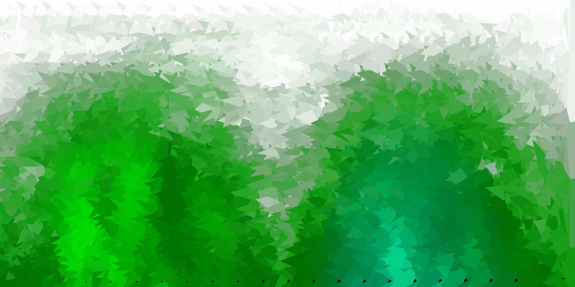 desenho de polígono gradiente de vetor verde escuro.