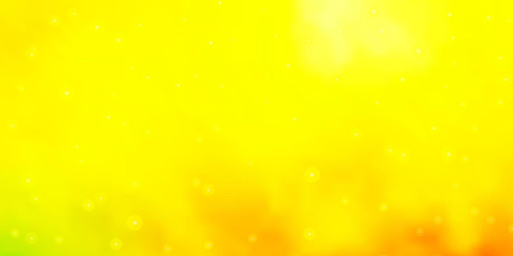 luz vermelha, padrão de vetor amarelo com estrelas abstratas.