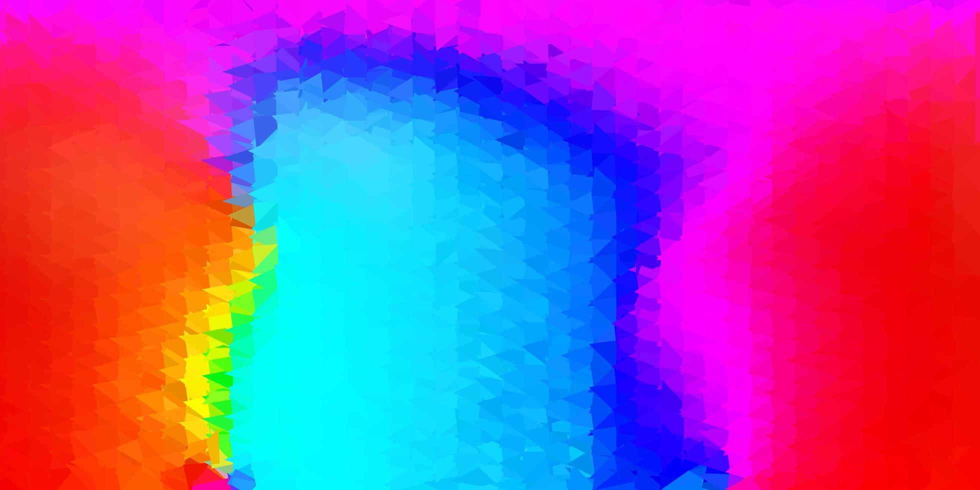 padrão de mosaico de triângulo de vetor vermelho e azul escuro.
