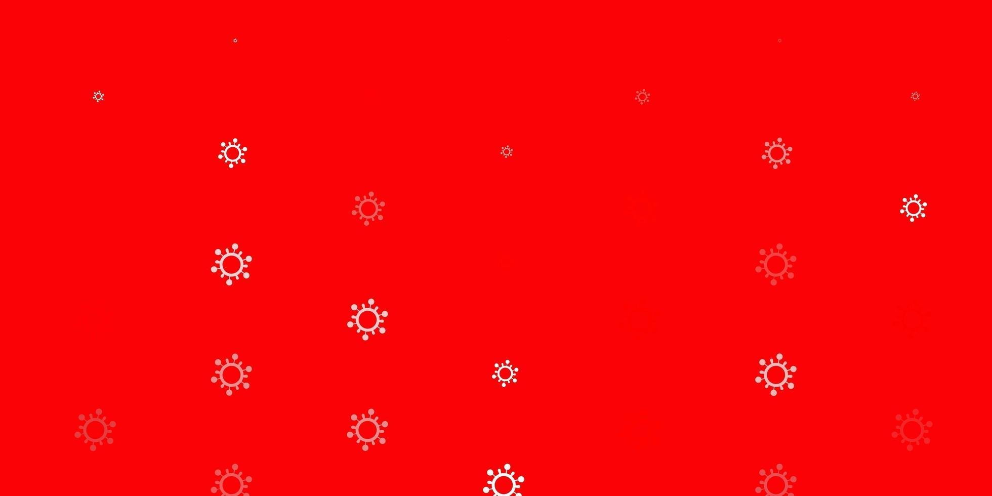 textura vector vermelho claro com símbolos de doença.