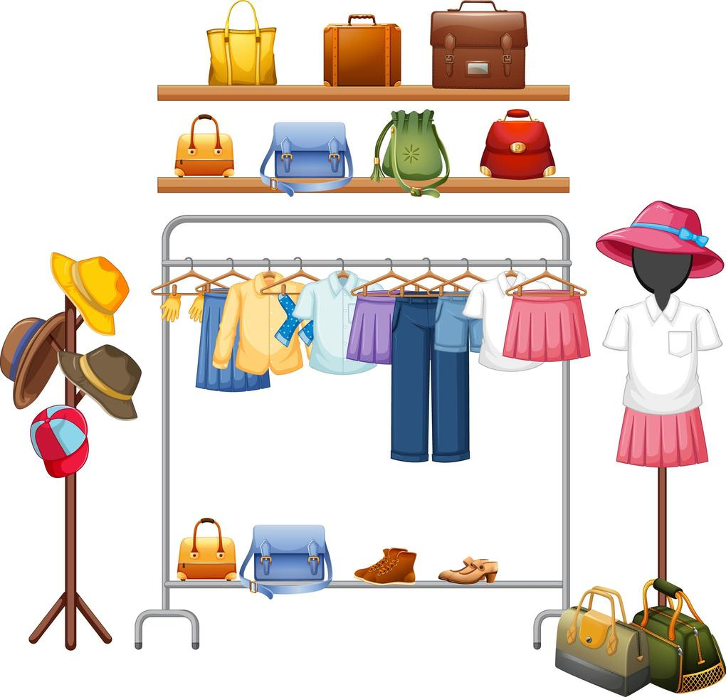roupas isoladas na prateleira vetor