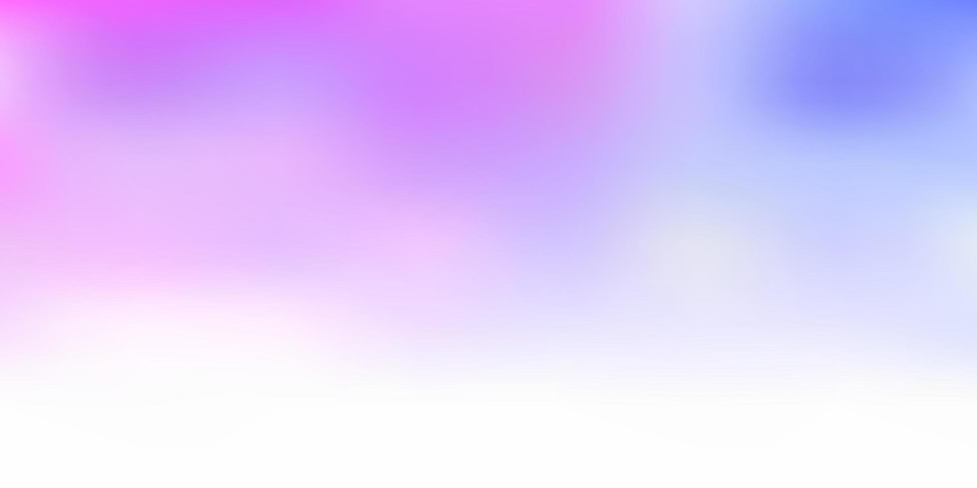 fundo de desfoque de vetor rosa claro e azul.