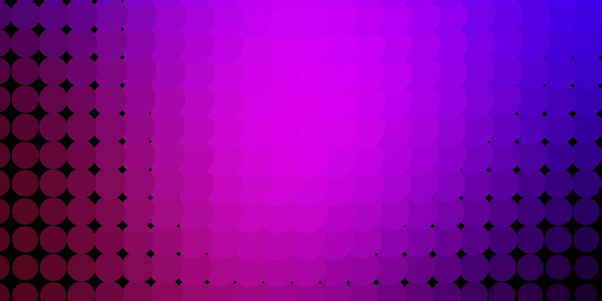 padrão de vetor roxo claro com círculos.