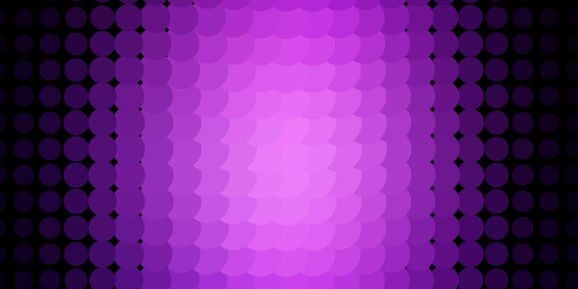 modelo de vetor roxo escuro com círculos.