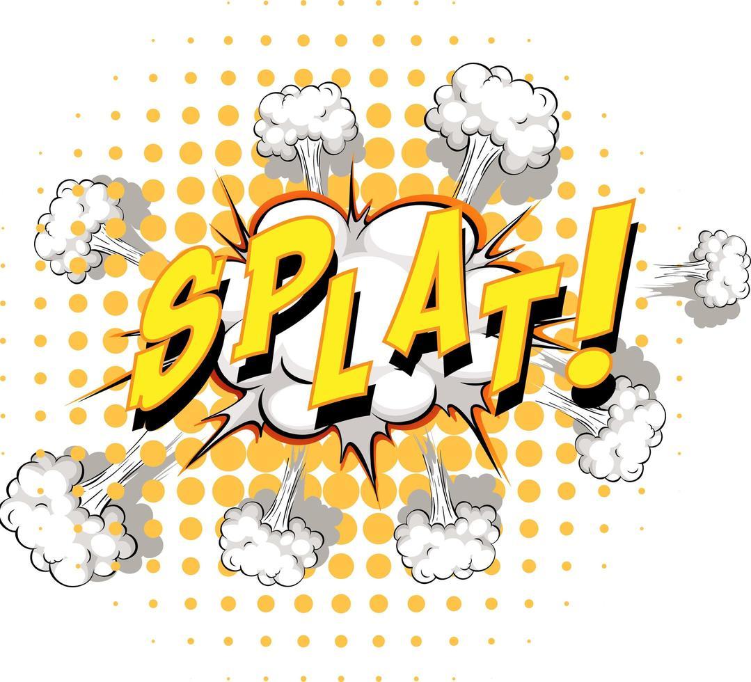 balão de fala em quadrinhos com texto splat vetor
