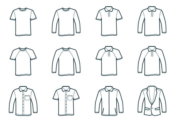 Molde do t-shirt do esboço vetor