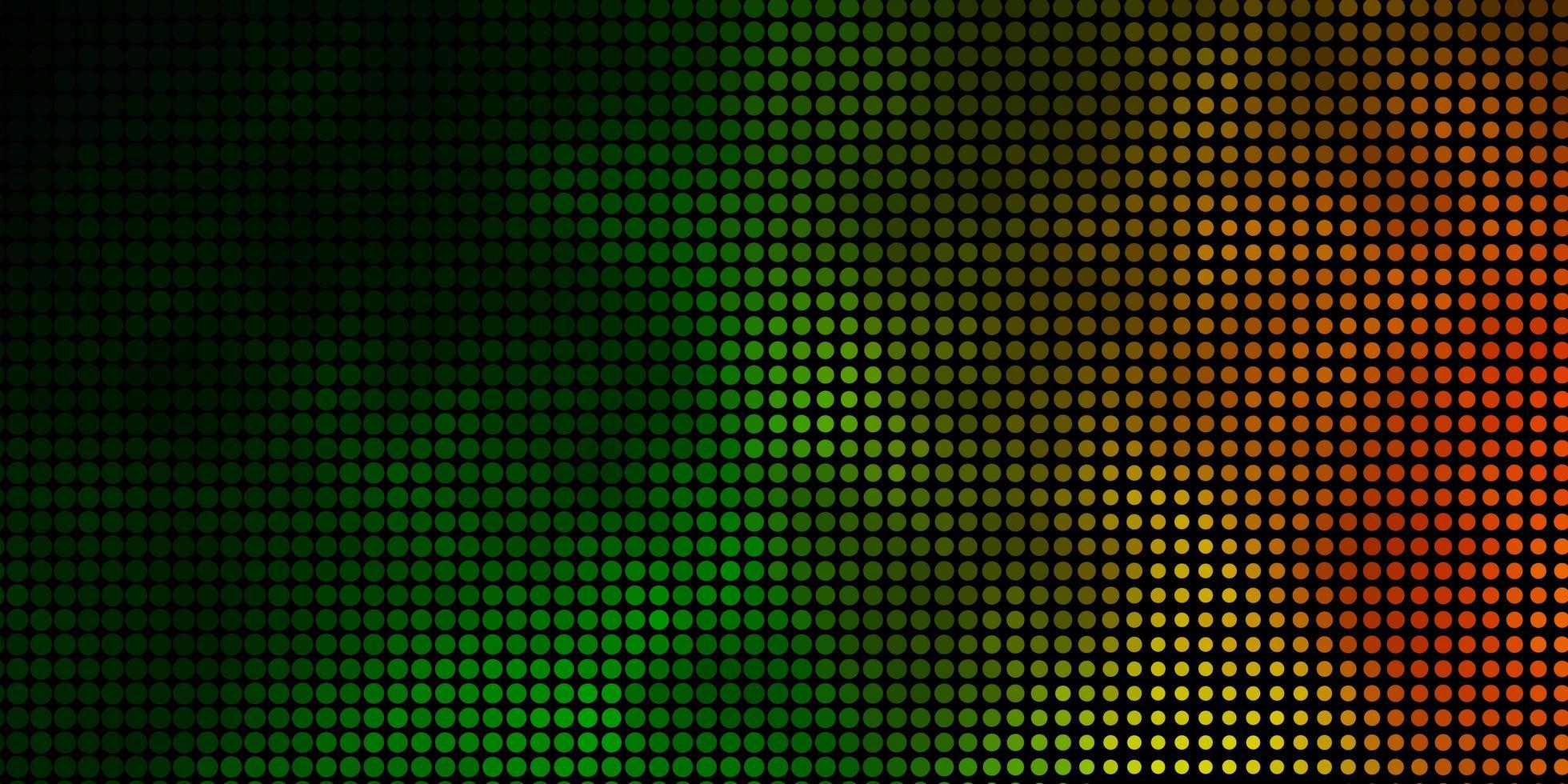 layout de vetor verde escuro e vermelho com formas de círculo.