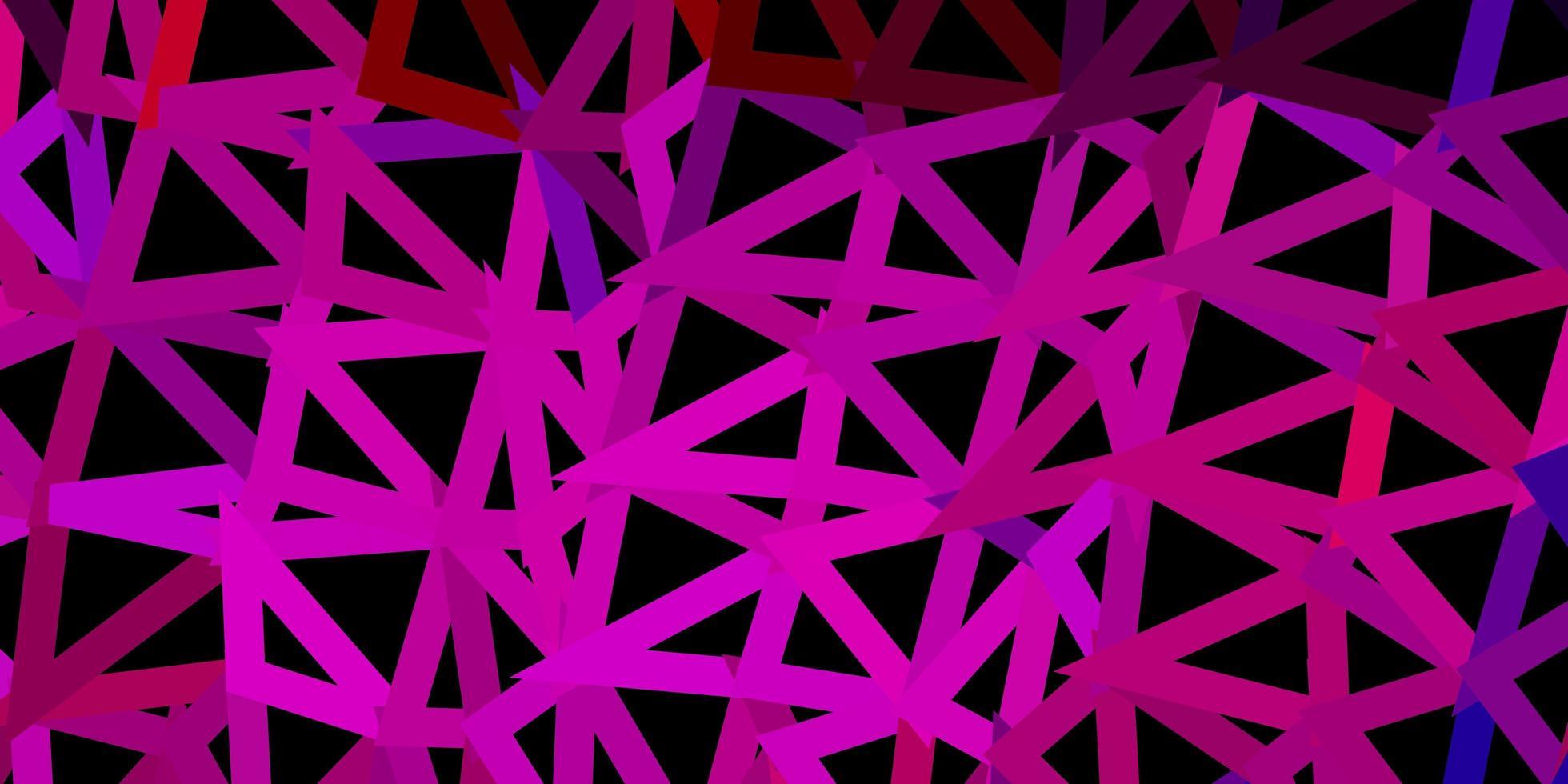 projeto do mosaico do triângulo do vetor azul escuro e vermelho.