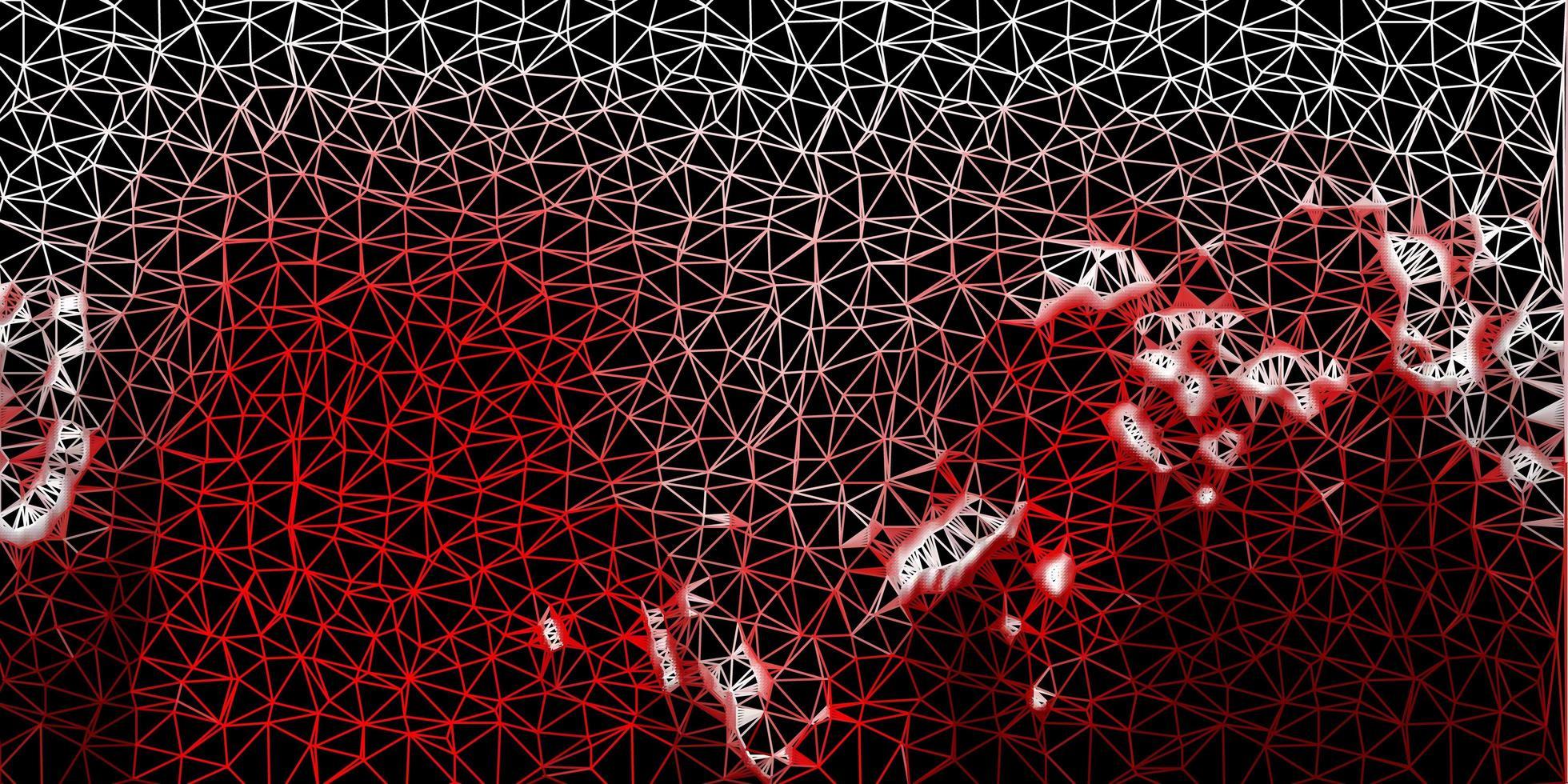 textura de triângulo poli vector vermelho escuro.