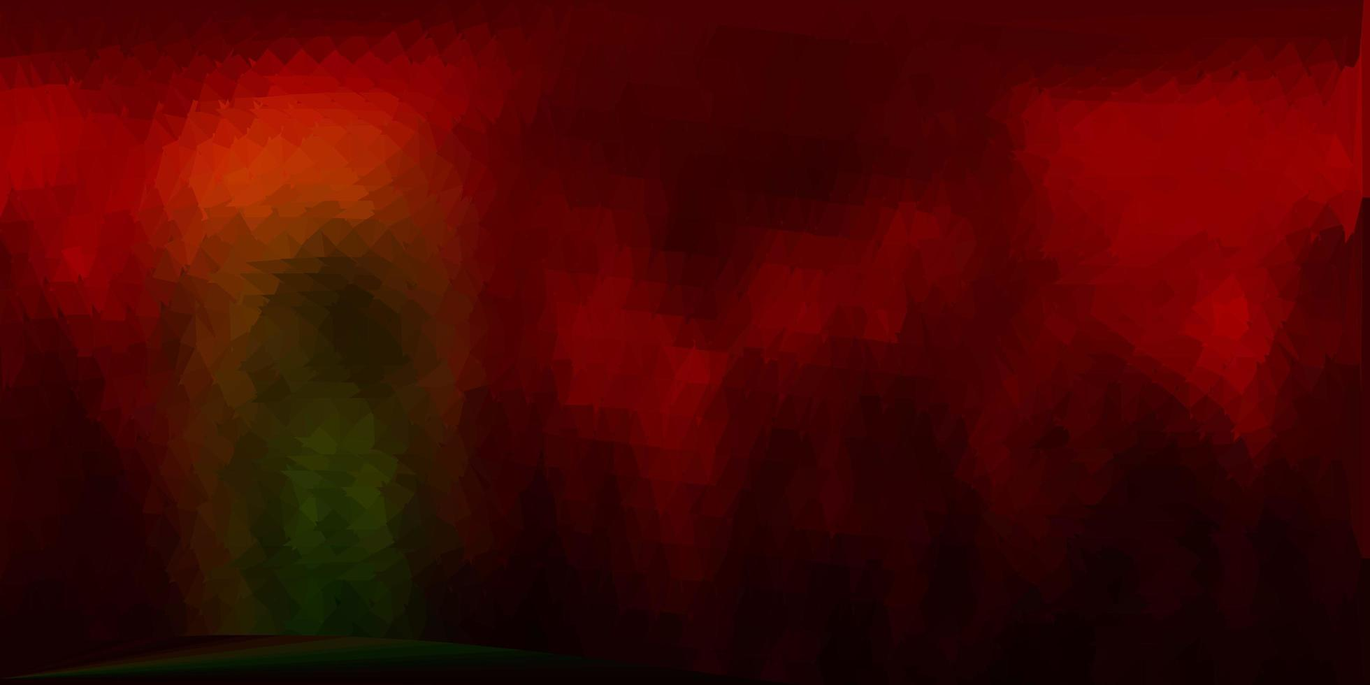 fundo do triângulo abstrato do vetor verde escuro e vermelho.