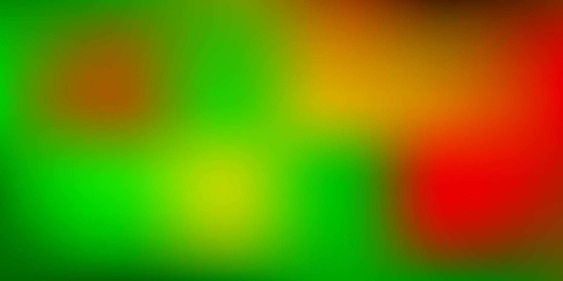 textura turva vector verde e amarelo escuro.