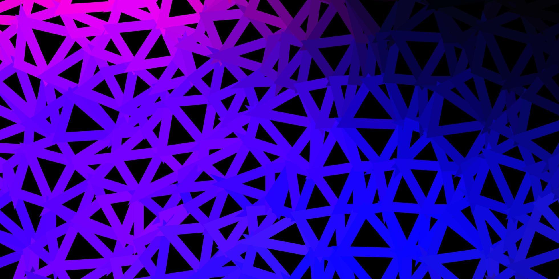 papel de parede poligonal geométrico de vetor rosa escuro, azul.