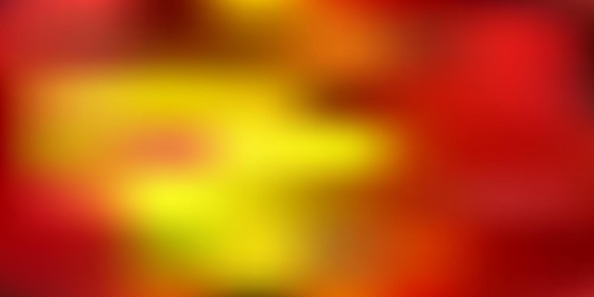 textura de borrão gradiente vermelho e amarelo escuro do vetor. vetor